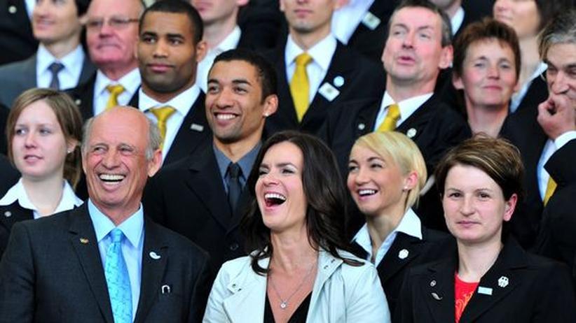 Wie lange werden sie noch lächeln? Willy Bogner und Katarina Witt.
