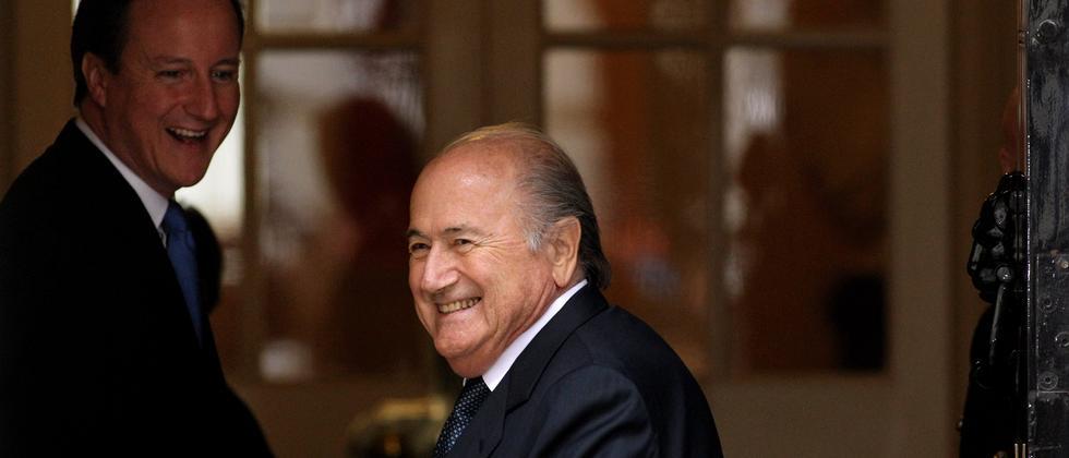 Fifa-Chef Sepp Blatter während eines Besuchs in London