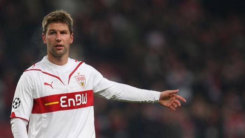 Der Nationalspieler Thomas Hitzlsperger im Trikot seines ehemaligen Vereins VfB Stuttgart