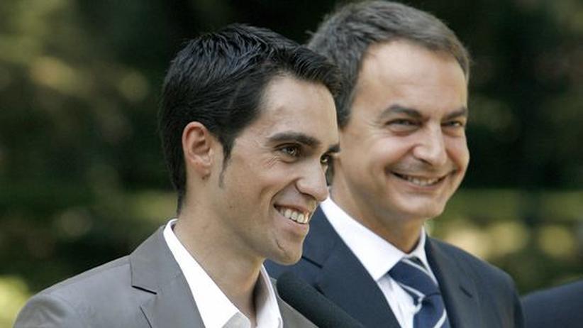 Alberto Contador: Zapatero und sein falscher Nationalheld