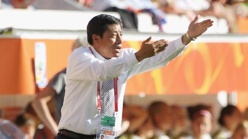 Nordkorea gegen die USA: Ins Team der Nordkoreanerinnen ist der Blitz eingeschlagen