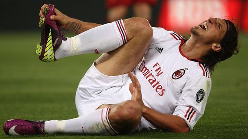 Zlatan Ibrahimovic vom italienischen Meister AC Mailand