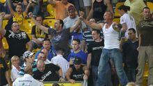 Fans von Alemannia Aachen nach einer Niederlage