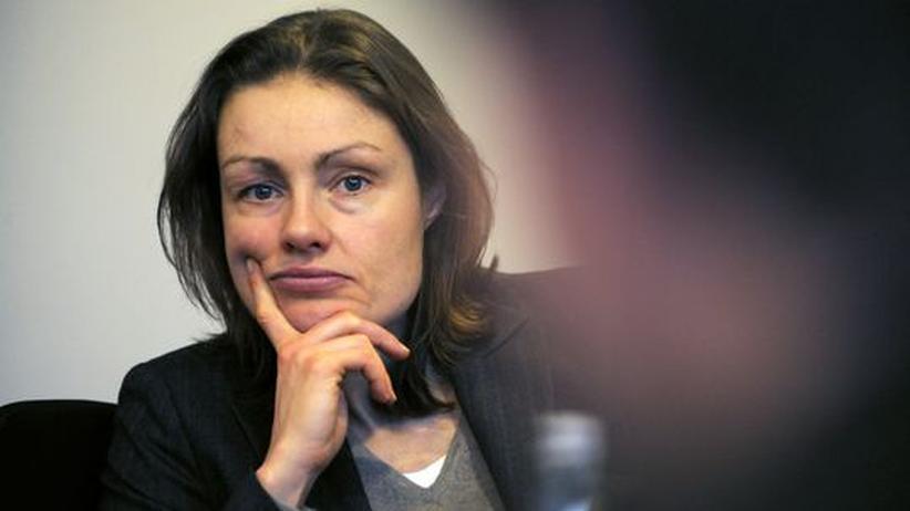 Katja Kraus während eines Interviews im Jahr 2009.