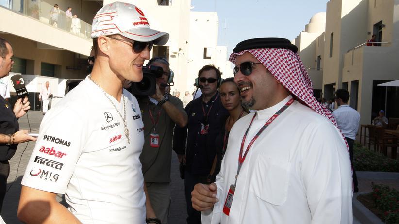Bahrain: Schumacher fährt und nebenan wird gefoltert
