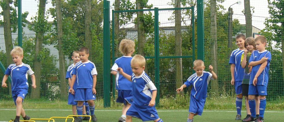 Kinder beim Training in Oppeln