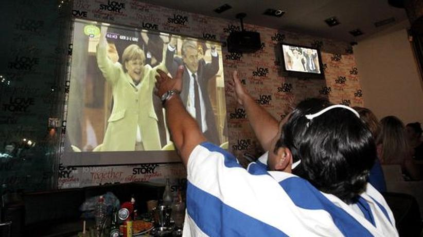Deutschland - Griechenland: Merkel, immer wieder Merkel