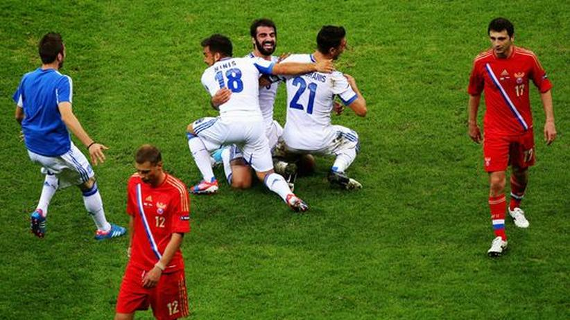 Griechenland – Russland: Griechen schleichen sich ins Viertelfinale wie einst in die Euro-Zone