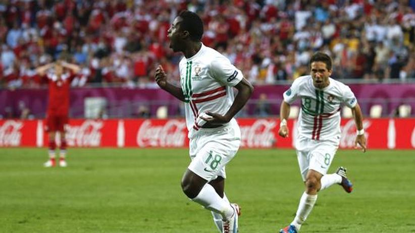 Fußball-EM: Portugal besiegt Dänemark in letzter Minute
