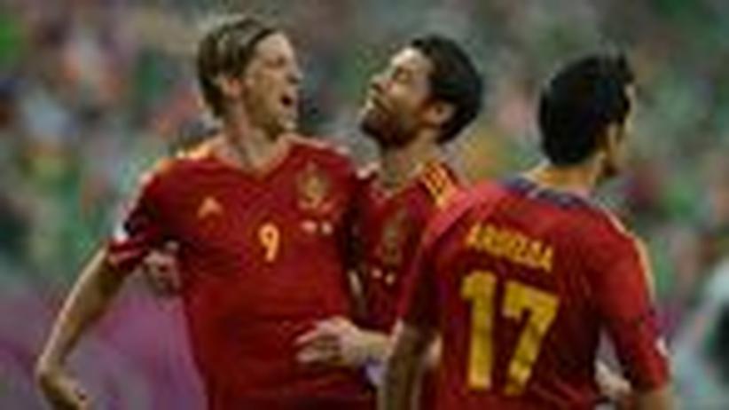 Fußball-EM: Spanien lässt Irland keine Chance