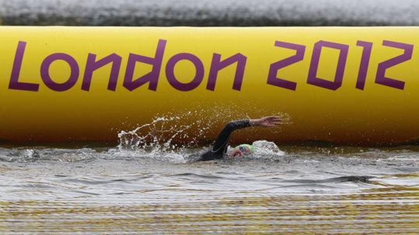 Mein Olympia: Eine Teilnehmerin beim olympischen Triathlon der Frauen