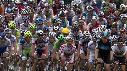 Das Feld der Tour de France 2012