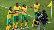 Südafrikas Fußballer während des Eröffnungsspiels der WM 2010