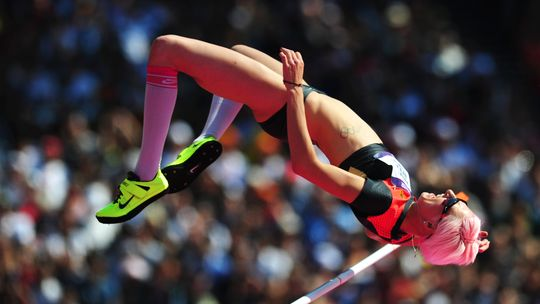 Ariane Friedrich beim olympischen Hochsprung 2012 in London