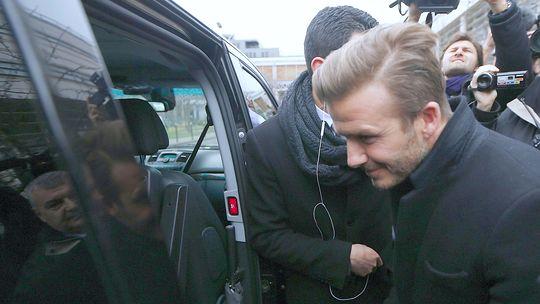 Der Fußballer David Beckham in Paris