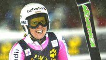 Viktoria Rebensburg nach ihrem Riesenslalom-Weltcupsieg im norwegischen Are im Dezember 2012