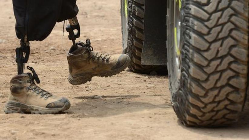 Motorsport: Rallye Dakar ohne Beine