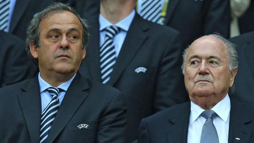 Uefa-Chef Michel Platini und Fifa-Präsident Joseph Blatter