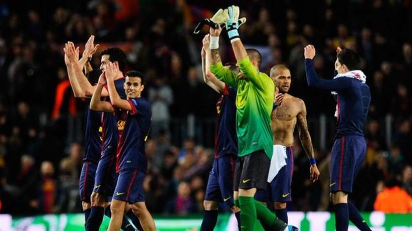 Champions League: Barça rettet sich mühevoll ins Halbfinale