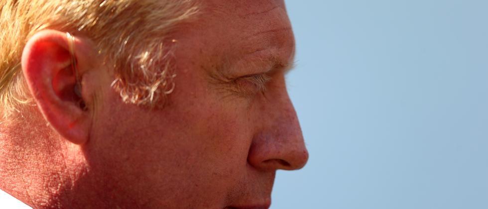 Boris Becker im September bei den US Open