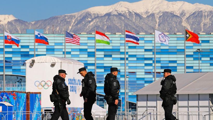 Sicherheitspersonal in Sotschi