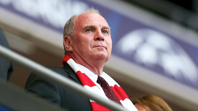 Uli Hoeneß: Uli Hoeneß beim Champions-League-Finale 2013 in London