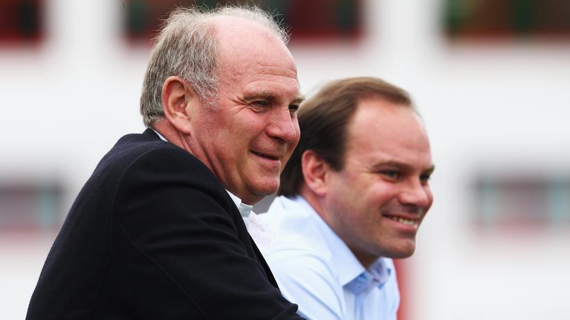 Uli Hoeneß und Christian Nerlinger im Frühjahr 2012