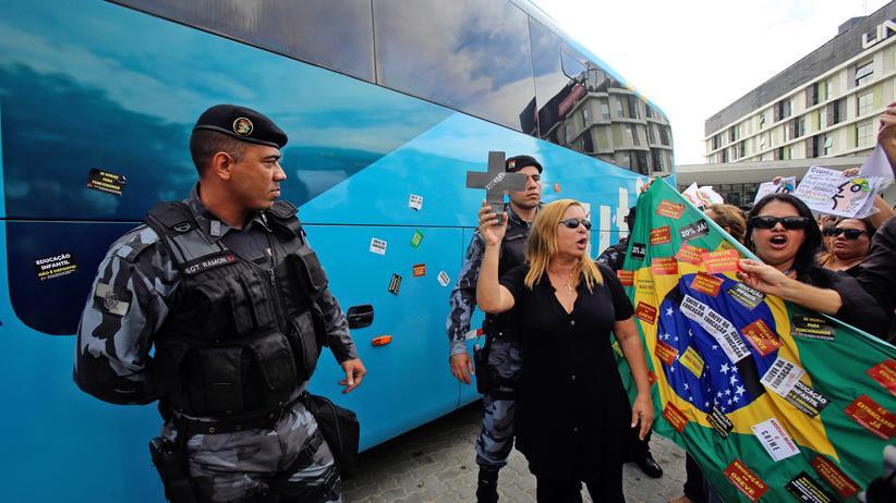 Lehrer Protest in Rio