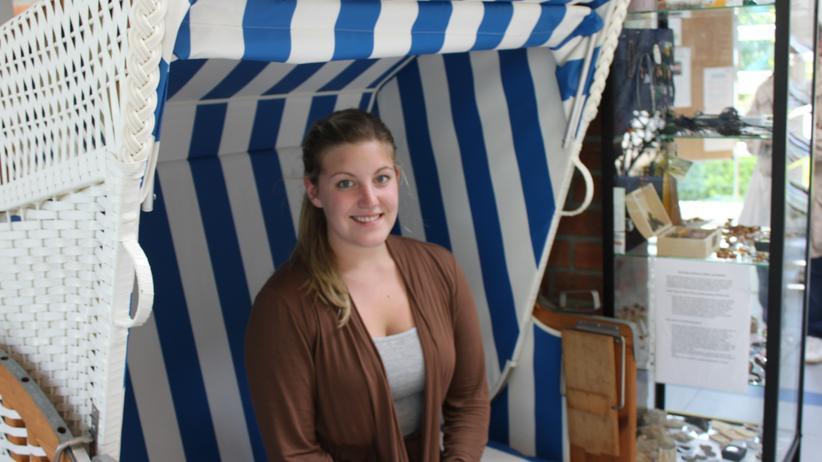 Mitarbeiterin der Touristenzentrale: Tina Martens vom Touristenservice hat während der WM viel zu tun.