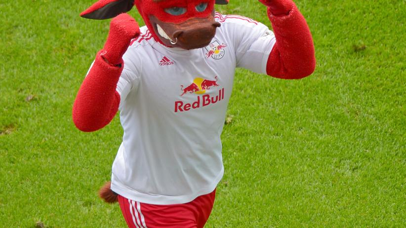 RB Leipzig: Ein Bulle, das Maskottchen der Leipziger