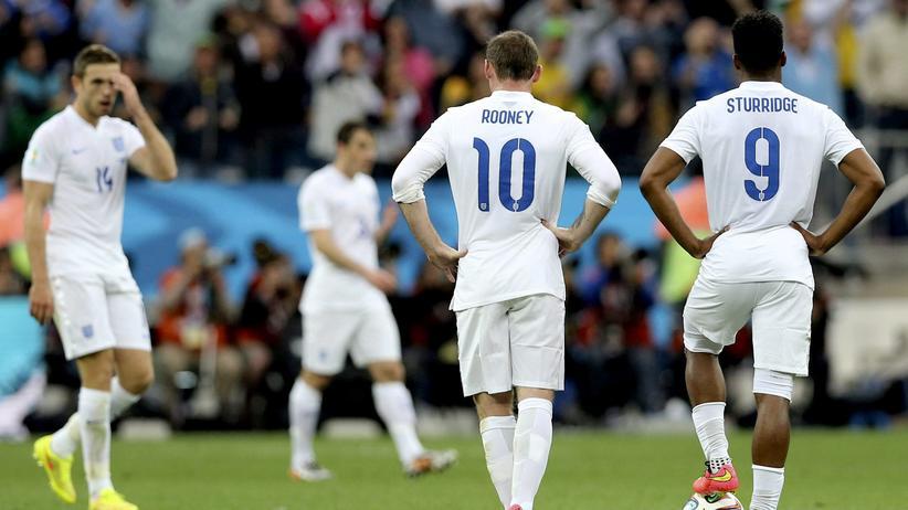 Fußball-WM Gruppe D: Wayne Rooney und Daniel Sturridge (r.)