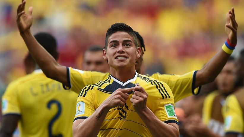 Kolumbien mit James Rodriguez präsentiert sich stark bei dieser WM.