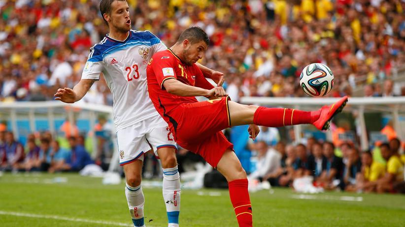 Belgien gegen Russland: Bauernfußball der ländlichsten Art