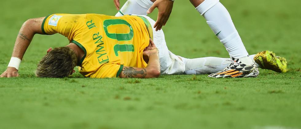 Neymar nach dem Foul