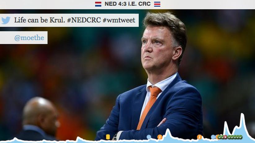 """WM-Tweets Niederlande - Costa Rica: """"Niemand hat die Absicht, ins Tor zu treffen"""""""