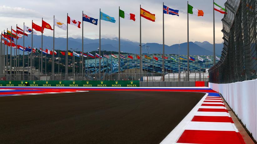 Formel 1 in Sotschi: Russland-Werbung auf Rädern