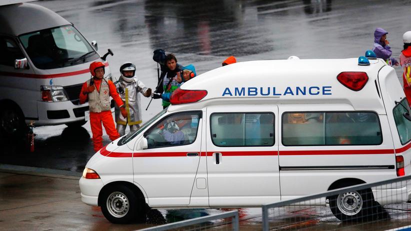 Jules Bianchi wurde im Rettunsgwagen ins Krankenhaus gefahren
