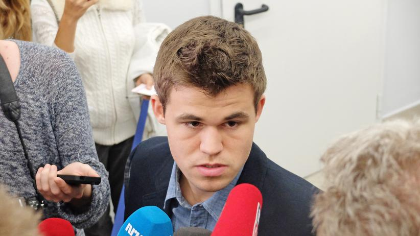 Magnus Carlsen nach der neunten Partie