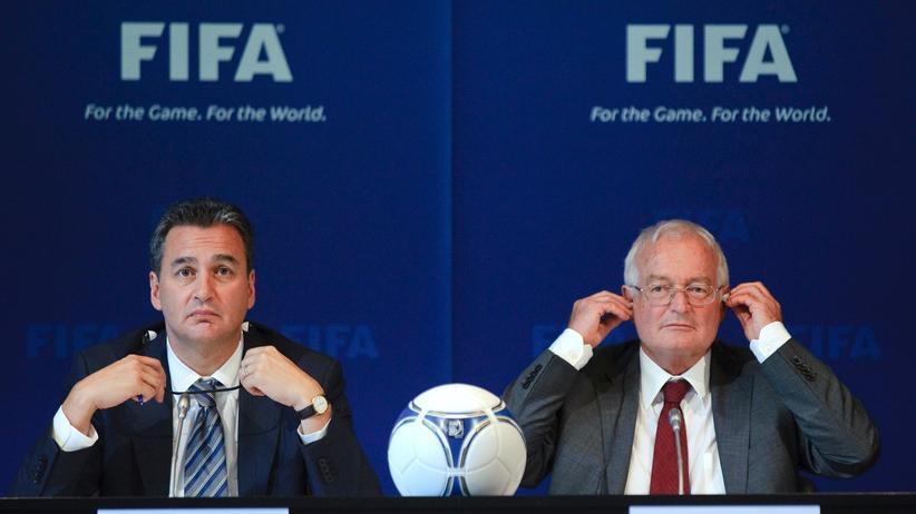 Fifa: Zwei unterschiedliche Temperamente: Michael Garcia (links) und Hans-Joachim Eckert