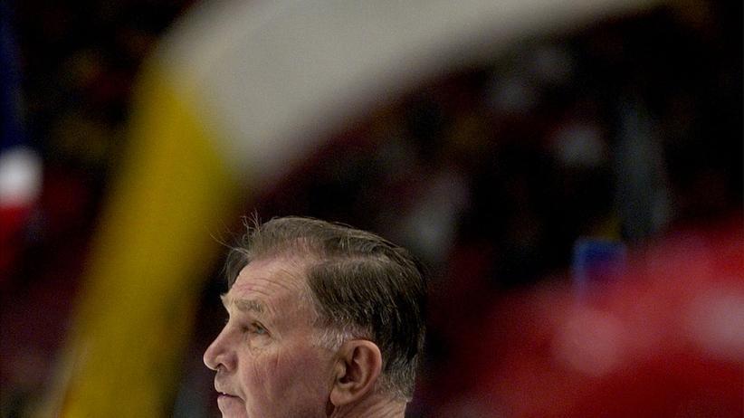 Der ehemalige russische Eishockeytrainer Wiktor Tichonow