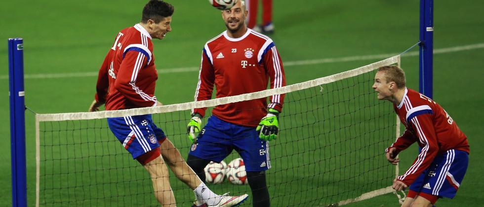 Die Bayern während des Trainingslagers in Katar