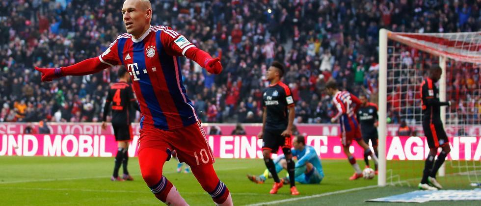Bundesliga Bayern HSV Robben