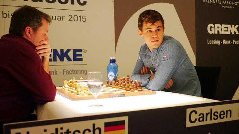 Naiditsch und Carlsen beim Stechen