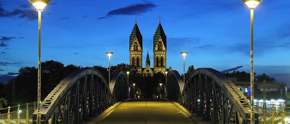 Die Wiwilibrücke in Freiburg