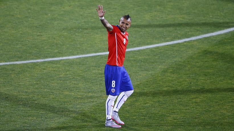 FC Bayern: Arturo Vidal während eines Spiels für die chilenische Nationalmannschaft (Archivbild)