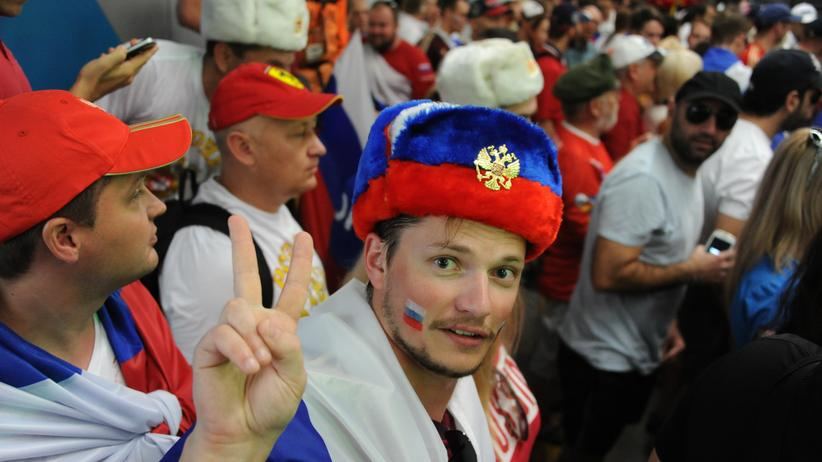 Ein russischer Fan bei der WM 2014 in Brasilien