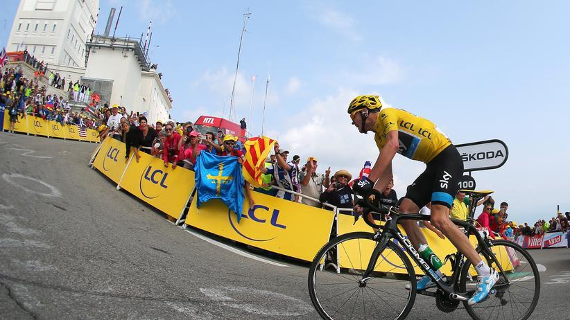 Der Brite Chris Froome auf dem Weg zum Sieg am Mont Ventoux im Jahr 2013