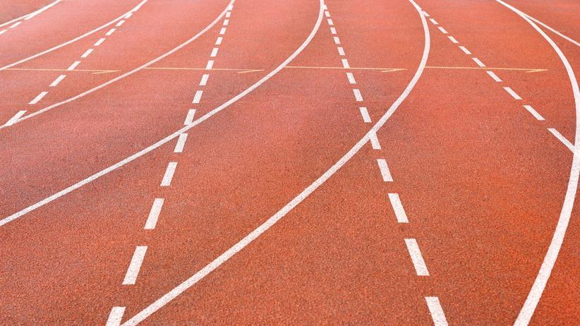 Eine Leichtathletik-Laufbahn