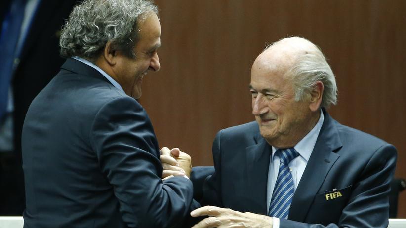 Uefa-Chef Platini und Fifa-Chef Sepp Blatter