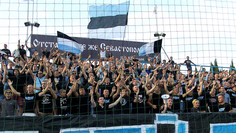Fans vom FC Sewastopol